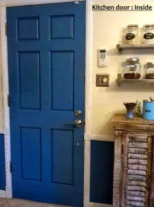 kitchen door blue